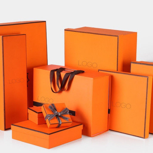 Luxury Rigid Paper Gift Box , Cardboard Paper Packing Box Sets