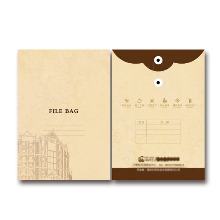 Matt Lamination Kraft Paper File , Expanding File Paper Bag Eco Friendly