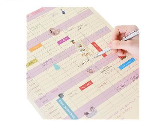 A3 Size Photo Wall Calendars Die Cut Shape With Full Color Printing