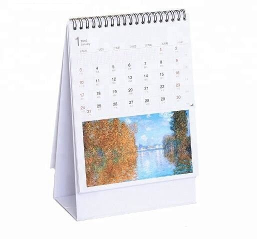 Matte Cover Custom Desk Calendar Table Top Photo Wall Calendars